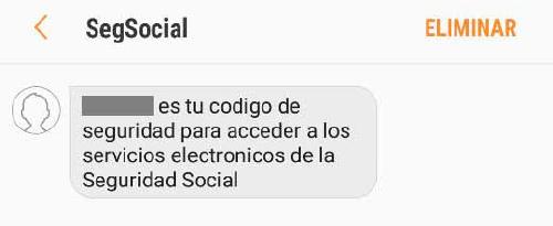 sms Seguridad Social