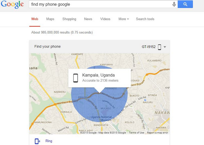 Find my phone: encuentra tu móvil Android perdido | Google Maps