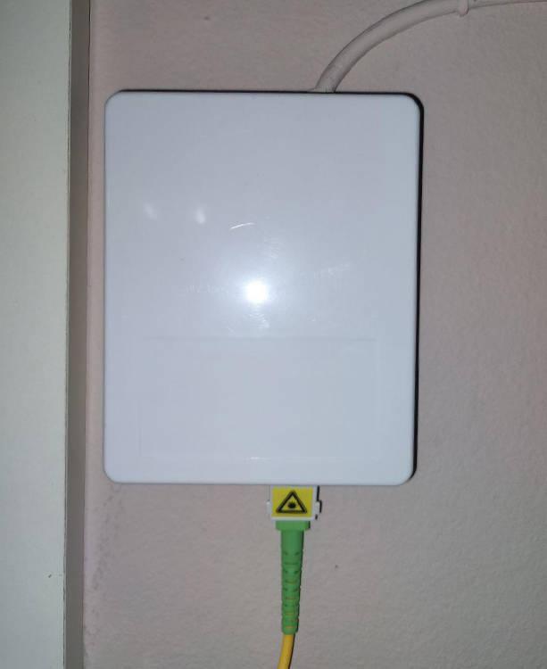Roseta fibra optica instalacion