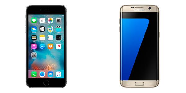 El comparador de móviles: Galaxy S7 Edge Vs iPhone S6 Plus | diseño