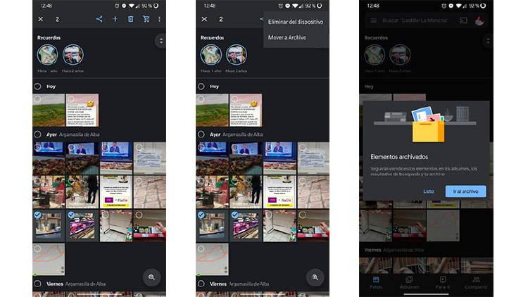 Cómo ocultar y proteger imágenes en Google Fotos