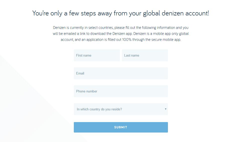Cómo hacerse una cuenta Denizen