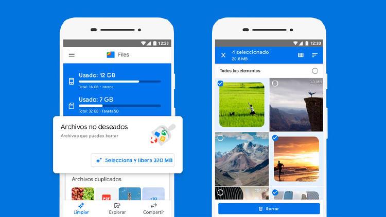files google app limpieza
