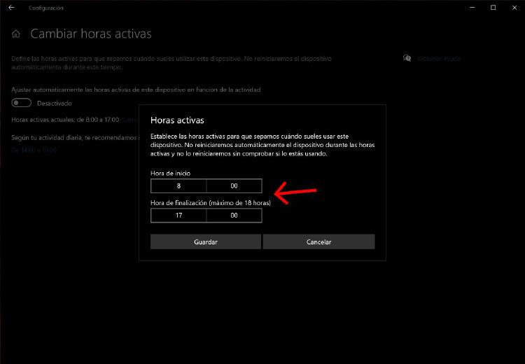 programar windows 10 actualización