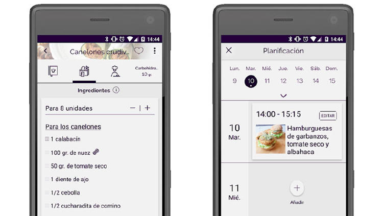 recetas veganas app android ios