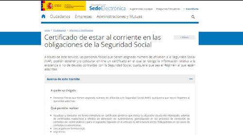 Sede Electrónica Seguridad-Social