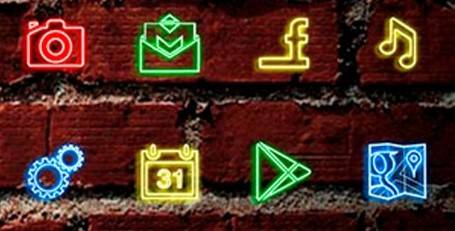 iconos móvil | 1 neon