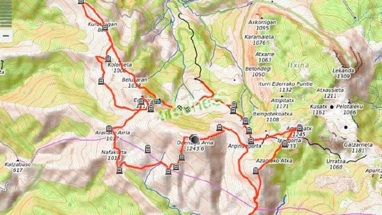 Ruta mapa senderismo