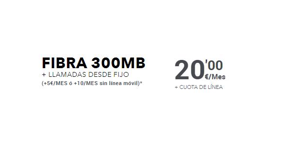 Oferta fibra 300MB MÁSMÓVIL