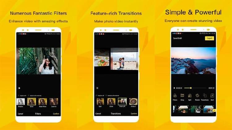 Mejores editores de vídeo que puedes descargar en Android