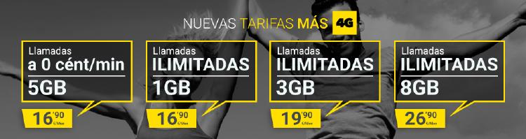 Tarifas para móvil | Tarifas 4G MASMOVIL