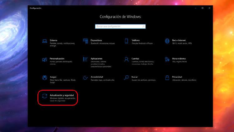 actualización seguridad Windows 10