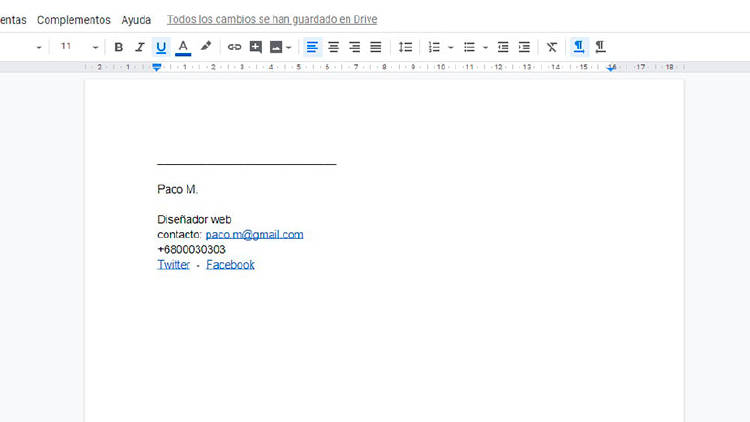 Cómo crear firmas de correo electrónico y añadirlas en Gmail
