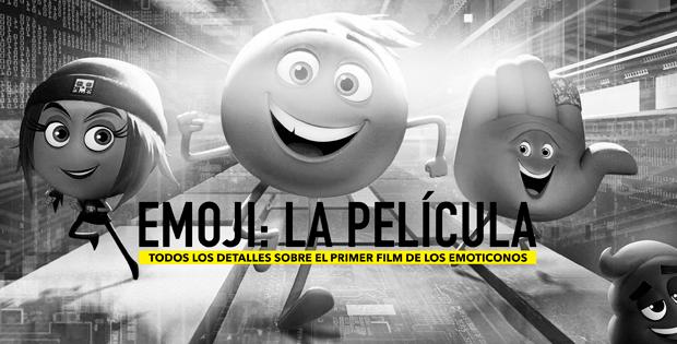 Los protagonistas de emoji: la película en blanco y negro