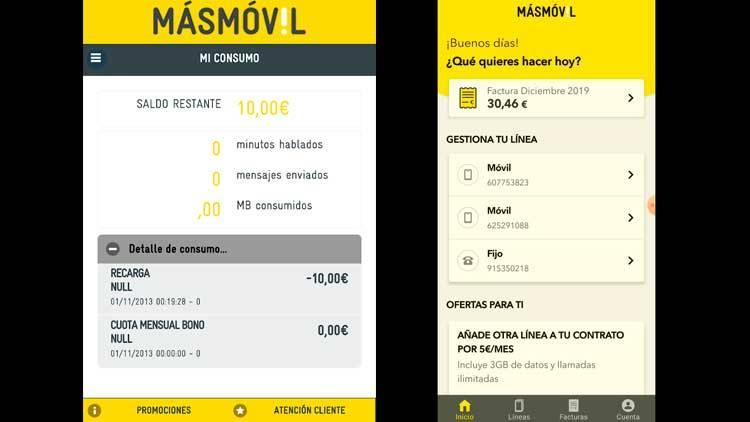 Nueva app MÁSMÓVIL