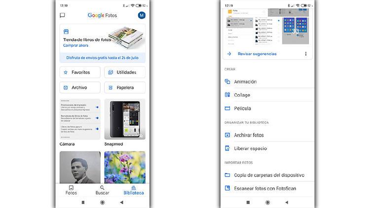 crear google fotos