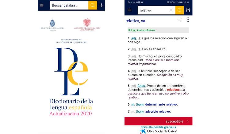 diccionario app movil