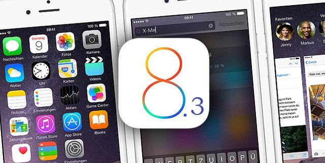 iPhone con iOS 8.3