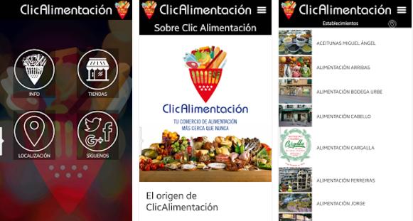 Funcionamiento app ClicAlimentación