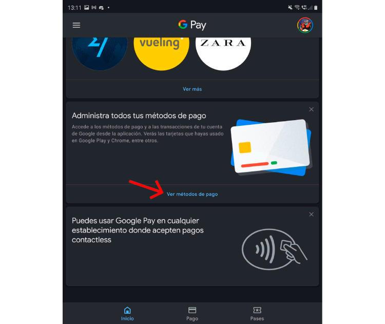 google pay añadir tarjeta