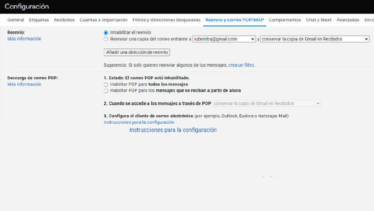 filtros correo electronico gmail