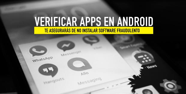 verificar aplicaciones en android