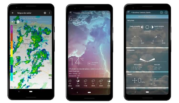 Tiempo en vivo, mejores apps del tiempo