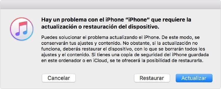 Quitar patrón desbloqueo iOS
