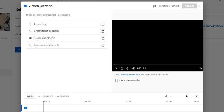 subtitulos youtube video