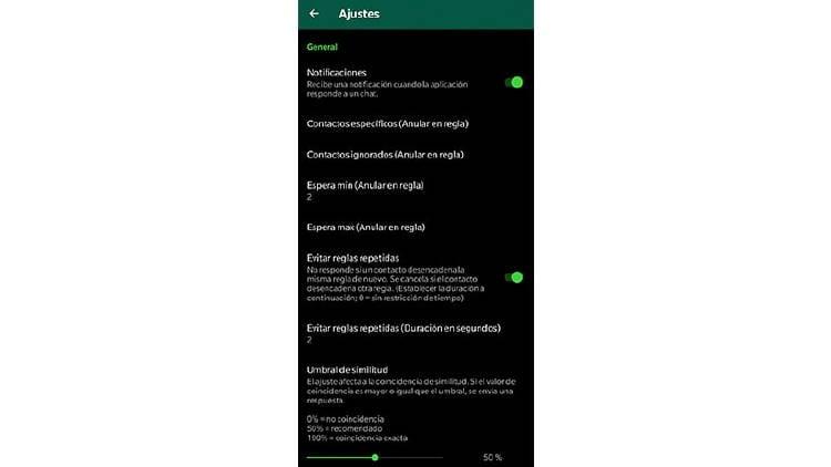 respuestas automaticas whatsapp ajustes