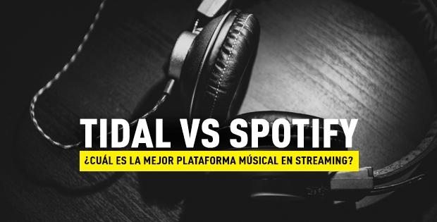 Tidal y Spotify