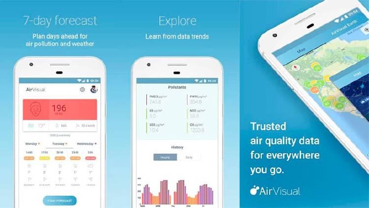 Apps medir calidad del aire móvil
