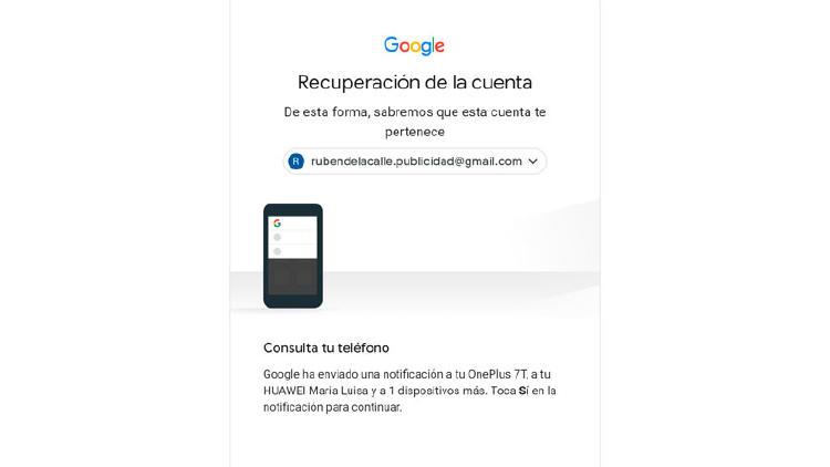 recuperar acceso google