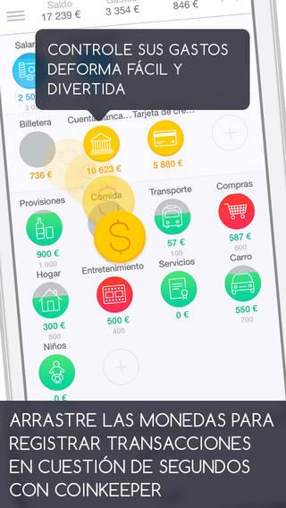 Pantallazo de una app para controlar gastos
