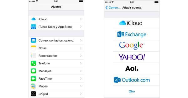 cómo configurar correo en iphone