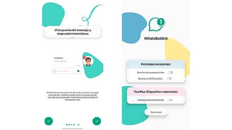 Activa las burbujas de chat en WhatsApp al estilo Facebook