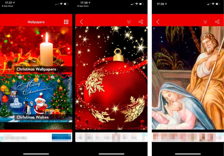fondo navidad iphone