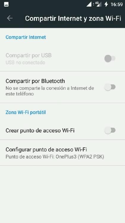 cómo compartir internet desde Android