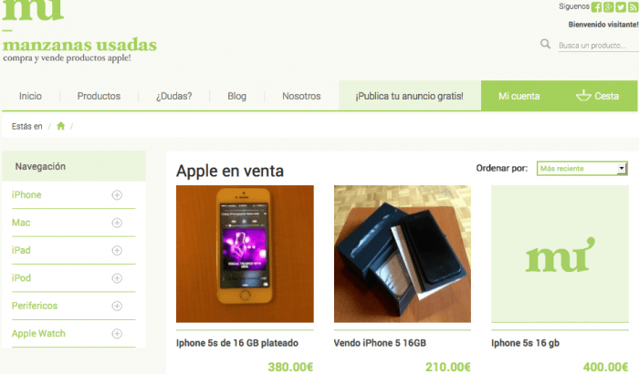 iphone segunda mano
