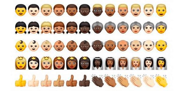 colores de piel emojis