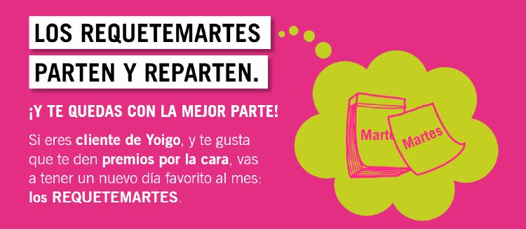 un martes de cada mes, nuestros clientes de Yoigo pueden recibir regalos sólo por ser cliente de Yoigo