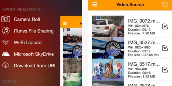 conertir videos iphone