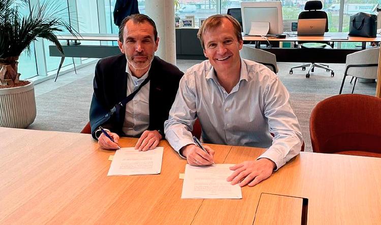 José Antonio López, Presidente y CEO de Ericsson España, y Meinrad Spenger, CEO de MASMOVIL