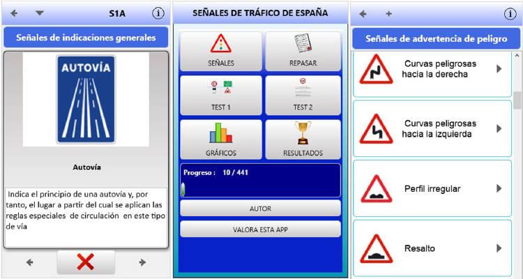 Apps aprender a conducir y señales