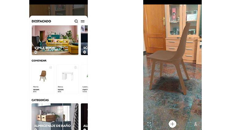 muebles realidad aumentada casa