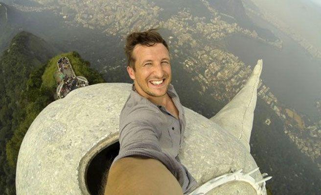 selfie cristo redentor