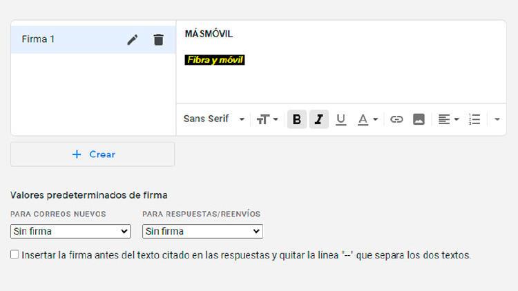 firma gmail