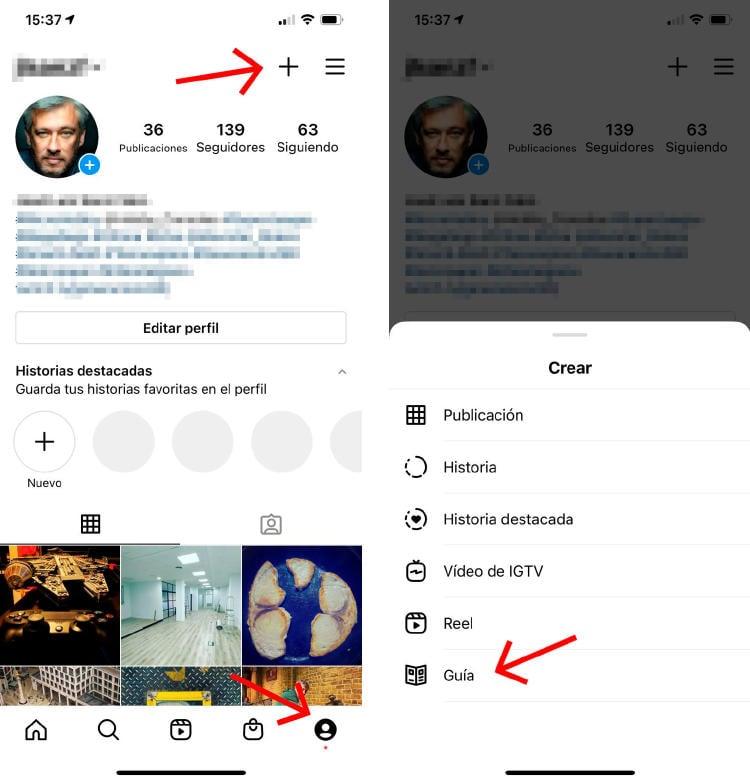 cómo crear una guía en Instagram