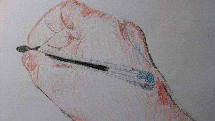 mano dibujada