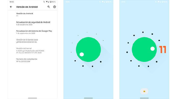 android 11 huevo pascua